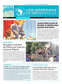 Les Dépêches de Brazzaville : Édition kinshasa du 06 avril 2017