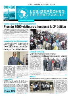 Les Dépêches de Brazzaville : Édition brazzaville du 07 avril 2017
