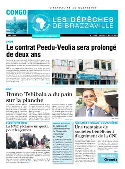 Les Dépêches de Brazzaville : Édition brazzaville du 10 avril 2017