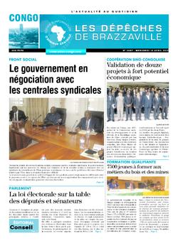 Les Dépêches de Brazzaville : Édition brazzaville du 12 avril 2017
