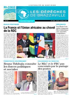 Les Dépêches de Brazzaville : Édition kinshasa du 13 avril 2017