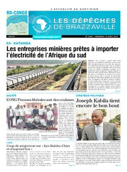 Les Dépêches de Brazzaville : Édition kinshasa du 14 avril 2017