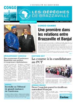 Les Dépêches de Brazzaville : Édition brazzaville du 18 avril 2017