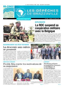 Les Dépêches de Brazzaville : Édition kinshasa du 18 avril 2017