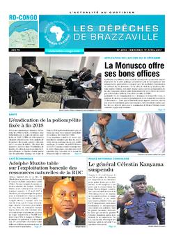 Les Dépêches de Brazzaville : Édition kinshasa du 19 avril 2017