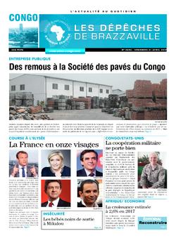 Les Dépêches de Brazzaville : Édition brazzaville du 21 avril 2017