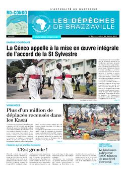 Les Dépêches de Brazzaville : Édition kinshasa du 24 avril 2017