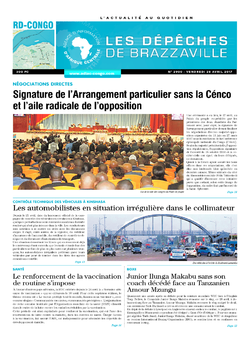 Les Dépêches de Brazzaville : Édition kinshasa du 28 avril 2017