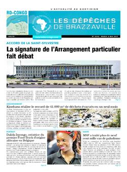 Les Dépêches de Brazzaville : Édition kinshasa du 02 mai 2017