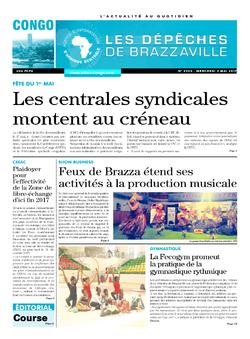 Les Dépêches de Brazzaville : Édition brazzaville du 03 mai 2017
