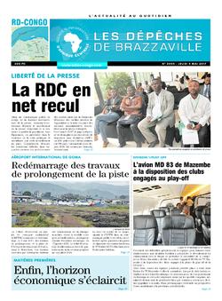 Les Dépêches de Brazzaville : Édition kinshasa du 04 mai 2017