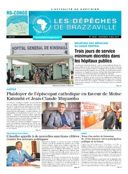 Les Dépêches de Brazzaville : Édition kinshasa du 05 mai 2017