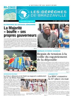 Les Dépêches de Brazzaville : Édition kinshasa du 08 mai 2017