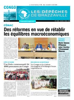 Les Dépêches de Brazzaville : Édition brazzaville du 09 mai 2017