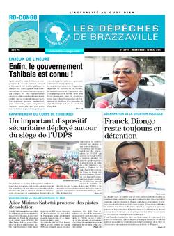 Les Dépêches de Brazzaville : Édition kinshasa du 10 mai 2017