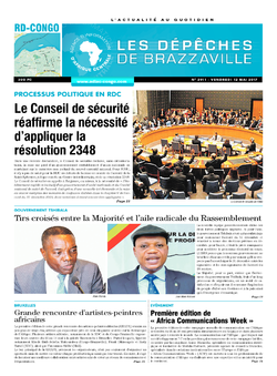 Les Dépêches de Brazzaville : Édition kinshasa du 12 mai 2017