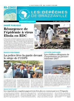 Les Dépêches de Brazzaville : Édition kinshasa du 15 mai 2017