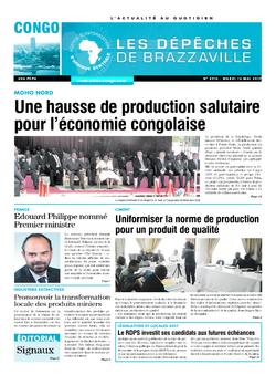 Les Dépêches de Brazzaville : Édition brazzaville du 16 mai 2017
