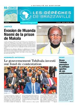 Les Dépêches de Brazzaville : Édition kinshasa du 18 mai 2017