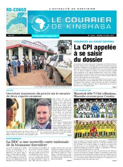 Les Dépêches de Brazzaville : Édition le courrier de kinshasa du 23 mai 2017
