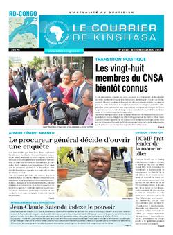 Les Dépêches de Brazzaville : Édition le courrier de kinshasa du 24 mai 2017