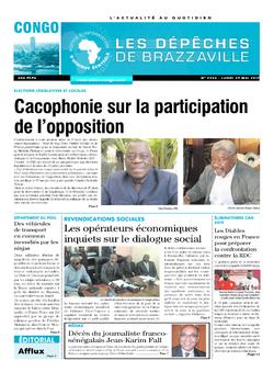 Les Dépêches de Brazzaville : Édition brazzaville du 29 mai 2017
