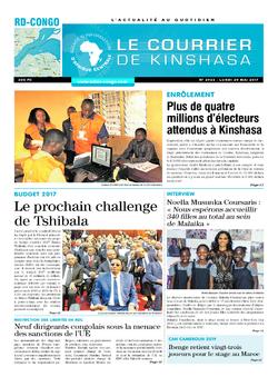 Les Dépêches de Brazzaville : Édition kinshasa du 29 mai 2017