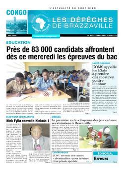 Les Dépêches de Brazzaville : Édition brazzaville du 31 mai 2017