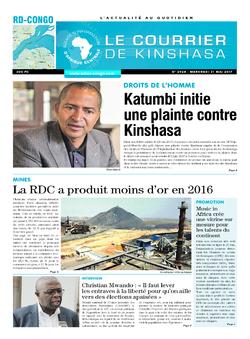 Les Dépêches de Brazzaville : Édition le courrier de kinshasa du 31 mai 2017