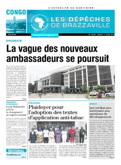 Les Dépêches de Brazzaville : Édition brazzaville du 01 juin 2017