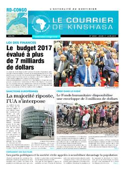 Les Dépêches de Brazzaville : Édition le courrier de kinshasa du 01 juin 2017