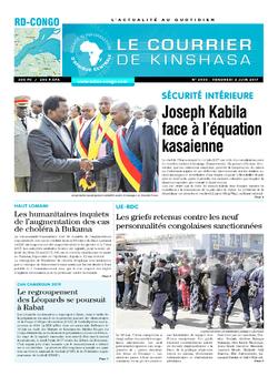 Les Dépêches de Brazzaville : Édition le courrier de kinshasa du 02 juin 2017