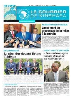 Les Dépêches de Brazzaville : Édition le courrier de kinshasa du 06 juin 2017