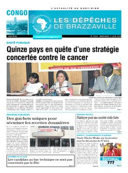 Les Dépêches de Brazzaville : Édition brazzaville du 07 juin 2017