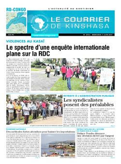 Les Dépêches de Brazzaville : Édition le courrier de kinshasa du 07 juin 2017