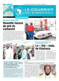 Les Dépêches de Brazzaville : Édition le courrier de kinshasa du 08 juin 2017