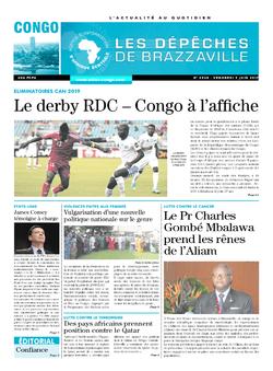 Les Dépêches de Brazzaville : Édition brazzaville du 09 juin 2017