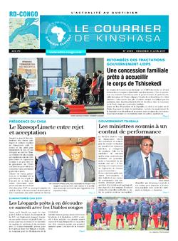 Les Dépêches de Brazzaville : Édition le courrier de kinshasa du 09 juin 2017