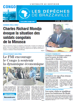 Les Dépêches de Brazzaville : Édition brazzaville du 13 juin 2017