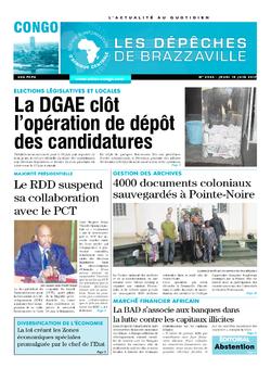 Les Dépêches de Brazzaville : Édition brazzaville du 15 juin 2017