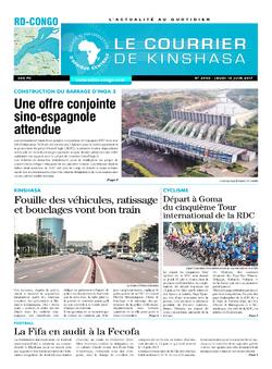 Les Dépêches de Brazzaville : Édition le courrier de kinshasa du 15 juin 2017