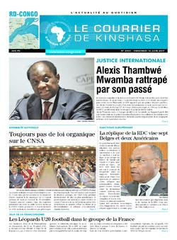 Les Dépêches de Brazzaville : Édition le courrier de kinshasa du 16 juin 2017