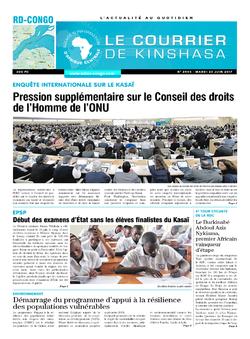 Les Dépêches de Brazzaville : Édition le courrier de kinshasa du 20 juin 2017
