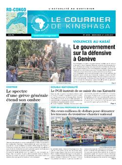 Les Dépêches de Brazzaville : Édition le courrier de kinshasa du 21 juin 2017