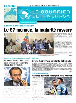 Les Dépêches de Brazzaville : Édition le courrier de kinshasa du 22 juin 2017