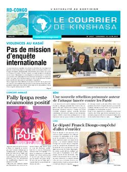 Les Dépêches de Brazzaville : Édition le courrier de kinshasa du 23 juin 2017