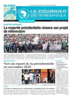 Les Dépêches de Brazzaville : Édition le courrier de kinshasa du 29 juin 2017