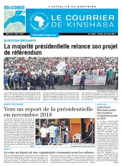 Les Dépêches de Brazzaville : Édition le courrier de kinshasa du 30 juin 2017