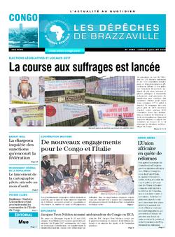 Les Dépêches de Brazzaville : Édition brazzaville du 03 juillet 2017