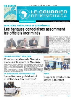 Les Dépêches de Brazzaville : Édition le courrier de kinshasa du 03 juillet 2017